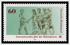 Briefmarke Internationales Jahr der Behinderten