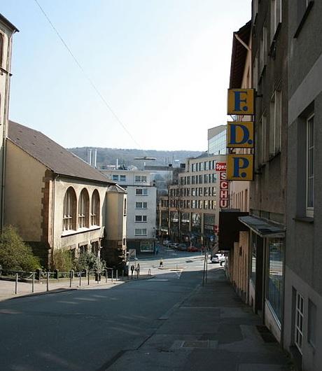 Altes FDP-Kürzel in der Sedanstraße