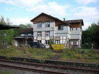 Der Bahnhof Wuppertal-Loh im Mai 2007